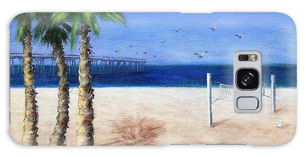 Hermosa Beach Pier Galaxy Case