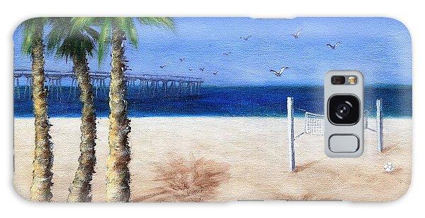 Hermosa Beach Pier Galaxy Case by Jamie Frier