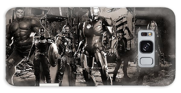 The Avengers Galaxy Case - Heroes Bw by Christian Colman