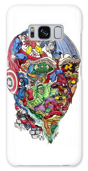 Superhero Galaxy Case - Heroic Mind by John Ashton Golden