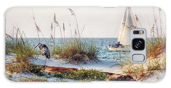 Heron And Sailboat Galaxy Case