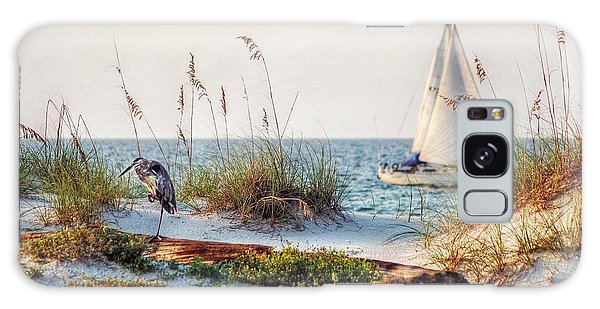 Heron And Sailboat Galaxy Case