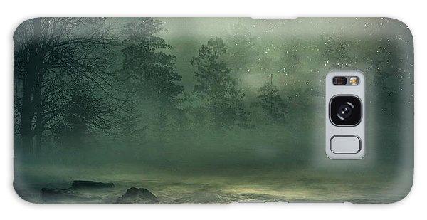 Heron By Moonlight Galaxy Case by Andrea Kollo