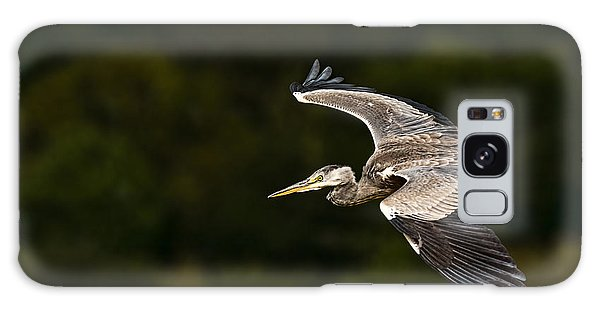 Heron Coming In To Land Galaxy Case