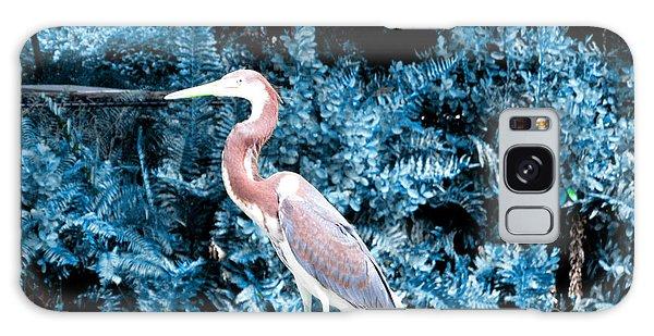 Heron In Blue Galaxy Case by Oksana Semenchenko