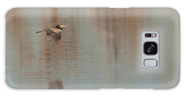 Heron In Flight Galaxy Case