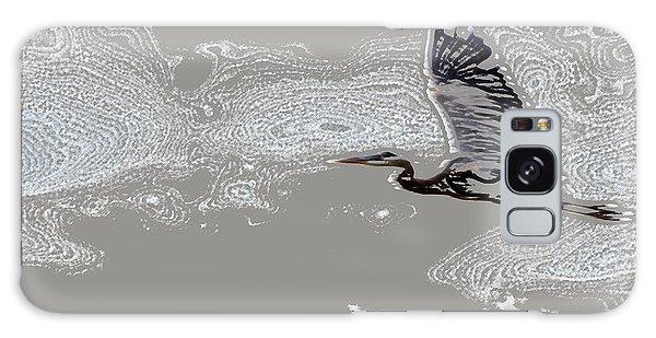 Heron In Flight Galaxy Case by Kathleen Stephens