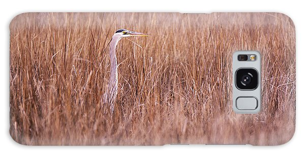 Heron In The Grass Galaxy Case