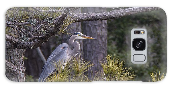 Heron In The Pines Galaxy Case
