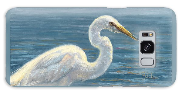 Herons Galaxy Case - Heron Light by Lucie Bilodeau