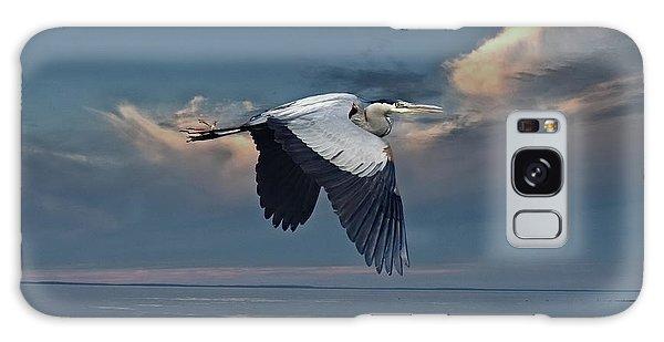 Heron Night Flight  Galaxy Case by Andrea Kollo
