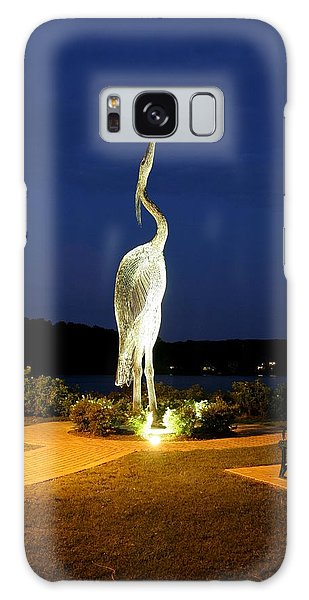 Heron On Mill Pond Galaxy Case