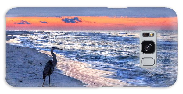 Heron On Mobile Beach Galaxy Case