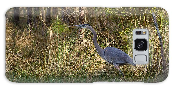 Heron On The Hunt Galaxy Case