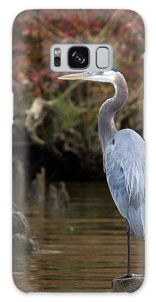 Heron Perch Galaxy Case