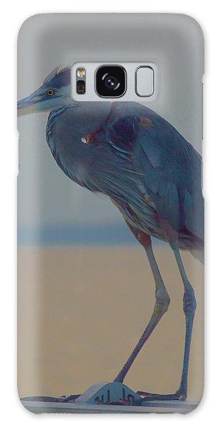 Heron Portrait Galaxy Case