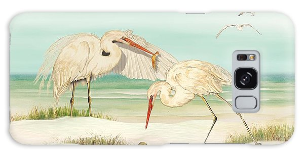 Herons Fishing Galaxy Case