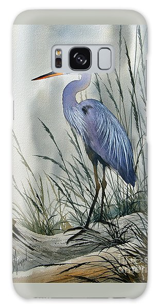 Herons Sheltered Retreat Galaxy Case