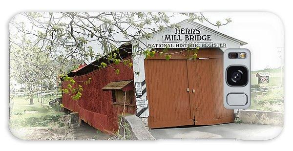 Herr's Mill Historic Bridge Galaxy Case
