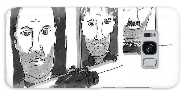 Sport Art Galaxy Case - He's Big, But He's No Chuck Close by Michael Crawford