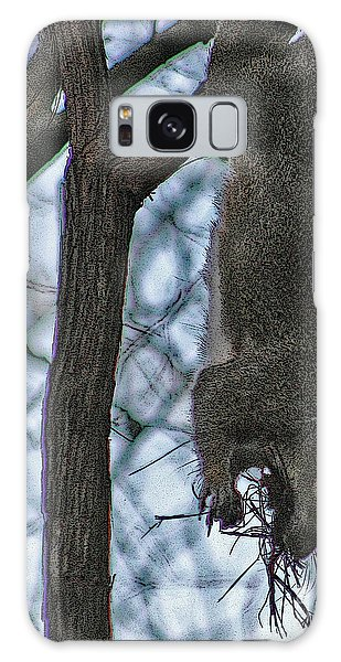 Hey I'm Upside Down Galaxy Case by D Wallace