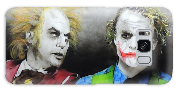 Health Ledger - ' Hey Why So Serious? ' Galaxy Case by Christian Chapman Art