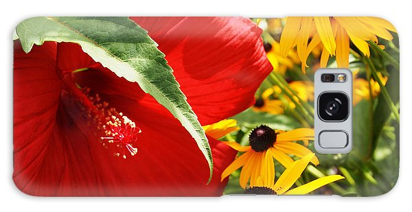 Hibiscus And Black Eyed Susans Galaxy Case