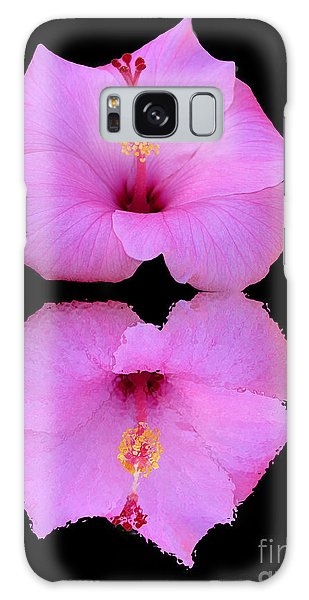Hibiscus And Reflection Galaxy Case