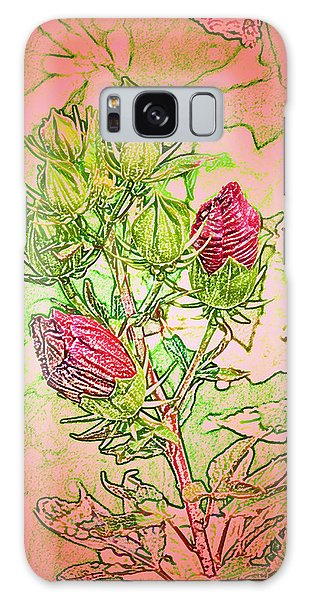 Hibiscus Buds Galaxy Case by Kathleen Stephens