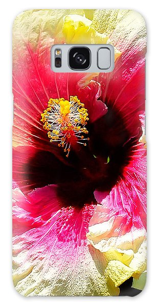 Hibiscus In Bloom Galaxy Case