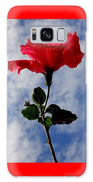 Hibiscus In The Sky Galaxy Case by Peter Mooyman