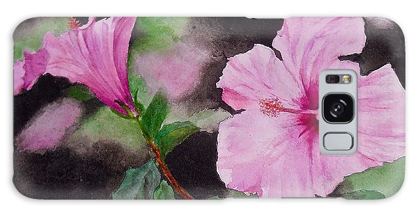 Hibiscus - So Pretty In Pink Galaxy Case
