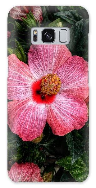 Hibiscus Sunset Galaxy Case
