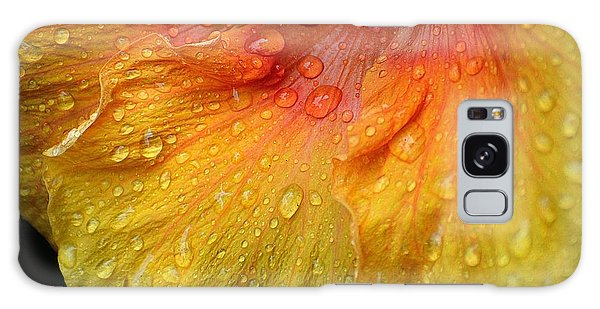 Hibiscus Water Drops Galaxy Case by Lisa L Silva