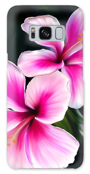 Hibiscuses Galaxy Case by Laura Bell