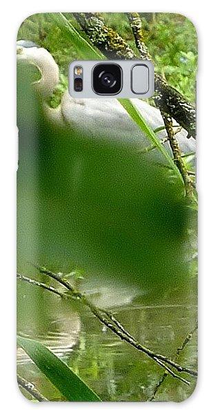 Hidden Bird White Galaxy Case by Susan Garren