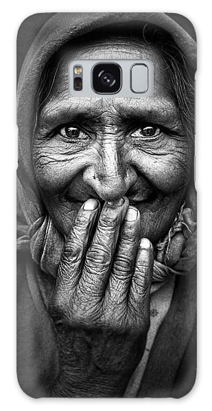 Lady Galaxy Case - Hidden Smile by Nidhal Alsalmi
