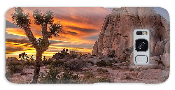 Hidden Valley Rock - Joshua Tree Galaxy Case by Peter Tellone