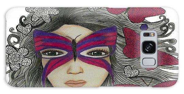 Hiding Me Pencil Drawing By Saribelle Rodriguez Galaxy Case by Saribelle Rodriguez