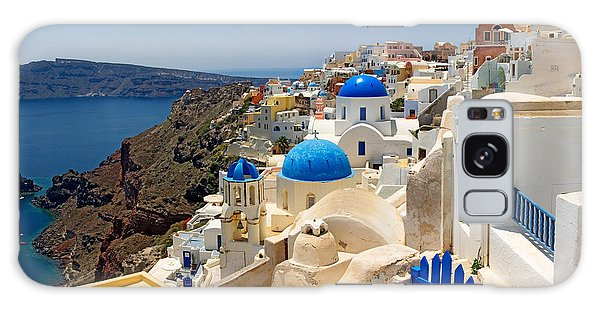 Place Of Worship Galaxy Case - High Angle View Of A Church, Oia by Panoramic Images