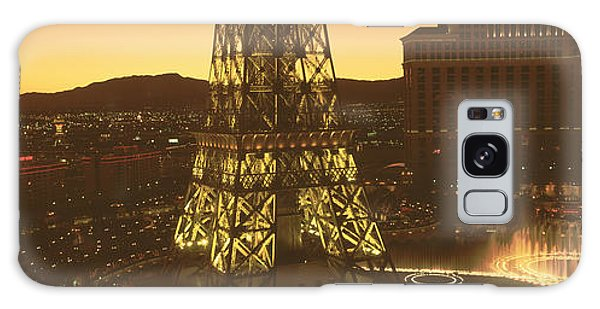 Desert View Tower Galaxy Case - High Angle View Of A City, Las Vegas by Panoramic Images
