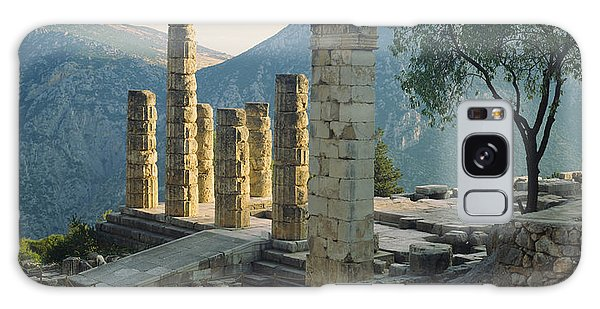 Place Of Worship Galaxy Case - High Angle View Of Ruined Columns by Panoramic Images