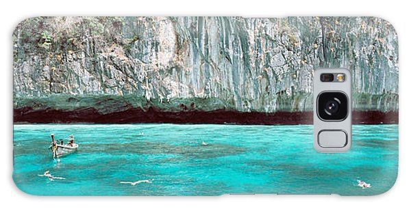 Phi Phi Island Galaxy Case - High Angle View Of Three People by Panoramic Images