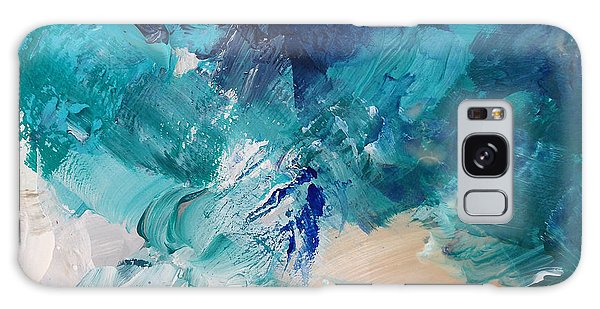 Abstract Landscape Galaxy Case - High As A Mountain- Contemporary Abstract Painting by Linda Woods