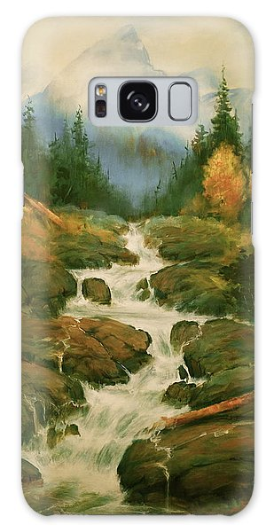 High Country Waterfall Galaxy Case