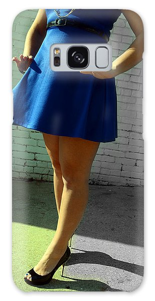 High Heels And A Blue Skirt Galaxy Case