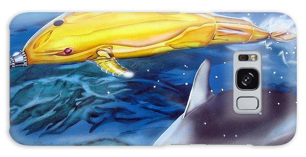 High Tech Dolphins Galaxy Case