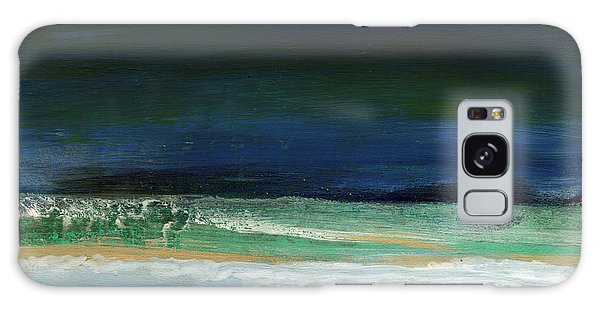 Tide Galaxy Case - High Tide- Abstract Beachscape Painting by Linda Woods