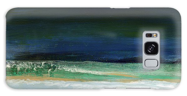 Tides Galaxy Case - High Tide- Abstract Beachscape Painting by Linda Woods