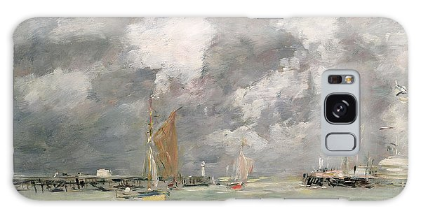 Docked Boats Galaxy Case - High Tide At Trouville by Eugene Louis Boudin